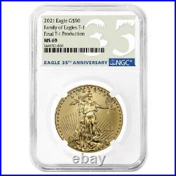 2021 $50 Type 1 American Gold Eagle NGC MS69 1 oz Final Production 35th Annivers