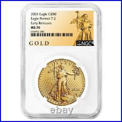 2021 $50 Type 2 American Gold Eagle 1 oz. NGC MS70 ER ALS Label