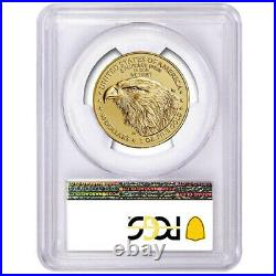 2021 $50 Type 2 American Gold Eagle 1 oz PCGS MS70 Blue Label
