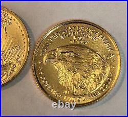 2021 $5 1/10oz US Gold American Eagle Dollar Type 2 NEW REVERSE BU Unc LIVE