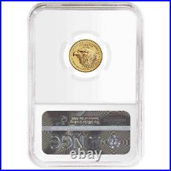 2021 $5 Type 2 American Gold Eagle 1/10 oz NGC MS69 Brown Label