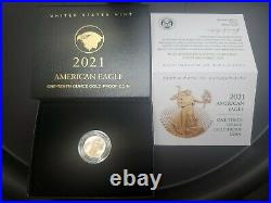 2021 American Eagle GOLD PROOF 1/10 oz. Type 2 in Hand