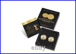 2021 American Eagle One-Tenth Ounce Gold Two-Coin Set Designer Edition PRE SALE