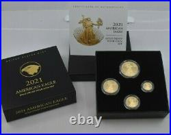 2021 American Eagle W Gold Four-Coin Proof Set 21EFN Type 2 IN HAND