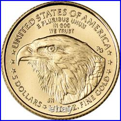 2021 American Gold Eagle Type 2 1/10 oz $5 NGC MS70 Early Releases