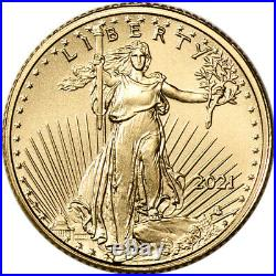 2021 American Gold Eagle Type 2 1/10 oz $5 NGC MS70 First Day Issue 1st Label