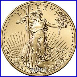 2021 American Gold Eagle Type 2 1/2 oz $25 NGC MS70 Early Releases
