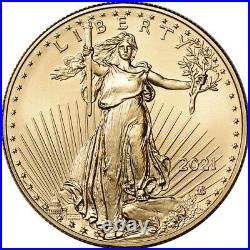 2021 American Gold Eagle Type 2 1 oz $50 NGC MS70 First Day Issue 1st Black