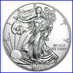 2021 Silver American Eagle 1 oz Silver BU USA Unopened 20 Coin Mint Roll Lot