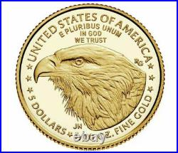 2021 W 1/10 oz Proof Gold Eagle NGC PF70 American Tenth Ounce Type 2 T-2