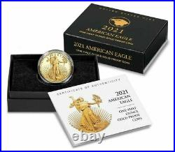 2021-W 1/2 American Eagle One-Half Ounce Gold Proof Coin (21ECN) Type 2 IN HAND