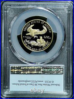 2021-W 1/2 oz $25 Proof GOLD AMERICAN EAGLE PCGS PR70 DCAM Type 1 FIRST STRIKE