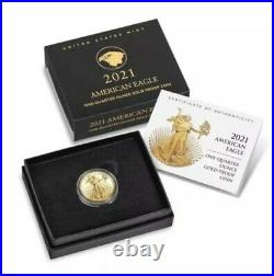 2021-W 1/4 Oz PROOF Gold American Eagle (21EDN) Type 2 (In hand, ready to ship)