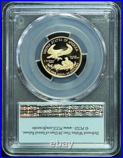 2021-W 1/4 oz $10 Proof GOLD AMERICAN EAGLE PCGS PR70 DCAM Type 1 FIRST STRIKE