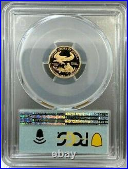 2021-W $5 1/10oz Proof American Gold Eagle Type 1 PCGS PR70 DCAM FDOI First Day