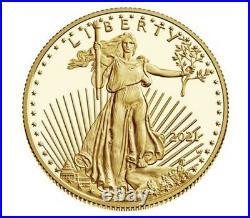 2021 W American Gold Eagle Proof 1/2 oz $25 PCGS PR69DCAM With OGP