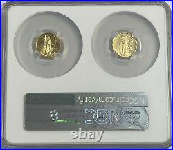 2021 W FDI 1/10oz GOLD AMERICAN EAGLE TWO COIN DESIGNER SET NGC PF69 FDOI # 1162