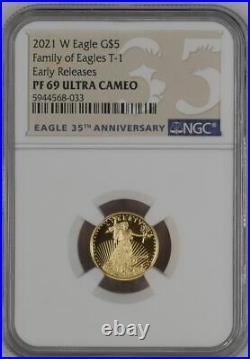 2021 W Proof 1/10 oz. $5 Gold Eagle NGC PF69 ER