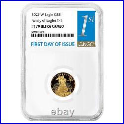 2021-W Proof $5 Type 1 American Gold Eagle 1/10 oz NGC PF70UC FDI First Label