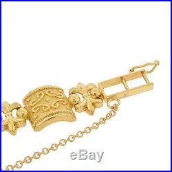 22K Gold Coin American Eagle 14K Bracelet Estate Ladies Etruscan Fancy Women's