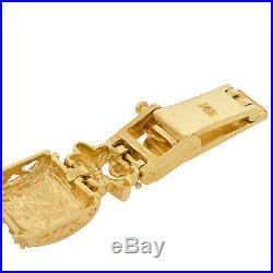 22K Gold Coin American Eagle 14K Bracelet Estate Mens Ladies Byzantine Link