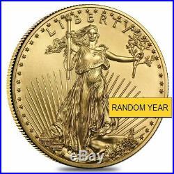 $25 1/2 oz American Gold Eagle (Random Date) BU