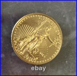 $5 1/10th oz American Eagle Gold Coin Tiny Gold Coin Beautiful 2013 Free Ship