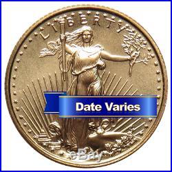 $5 American Gold Eagle 1/10 oz Random Year Brilliant Uncirculated