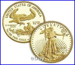 AMERICAN EAGLE 2021 One-Tenth Ounce Gold Two-Coin Set Designer Edition (in hand)