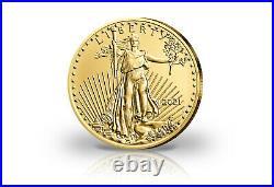 American Eagle 1/10 oz Gold 2021 USA Neues Motiv
