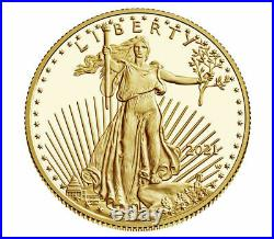 American Eagle 2021 One-Half Ounce Gold Proof Coin 1/2 oz