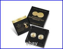 American Eagle 2021 One-Tenth Ounce Gold Two-Coin Set Designer Edition SHIPPED