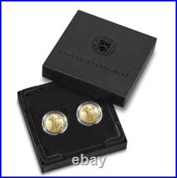 American Eagle 2021 One-Tenth Oz Gold Two-Coin Set (21XK) IN HAND Ships Now