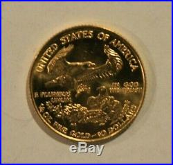 American Eagle Gold Coin 1/4 Oz 1995 $10 Gold is Hot