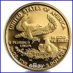 American gold Eagles 1/10 oz BU