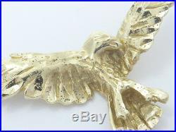 Anhänger pendant GOLD 14 Karat Adler Vogel American Eagle USA Amerika pendant