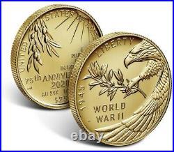 CONFIRMED End of World War II 75th Anniversary 24-Karat Gold Coin 20XG