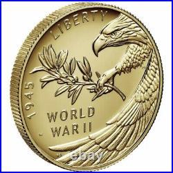 Confirmed Order End of World War II 75th Anniversary 24-Karat 1/2oz Gold Coin