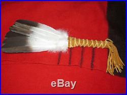 Custom Native American Hand Made Golden Eagle Medicine Feather Prayer Smudge Fan