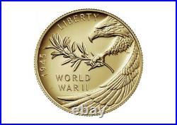 End of World War II 75th Anniv. 24-Karat 1/2oz Gold Coin CONFIRMED FAST SHIP