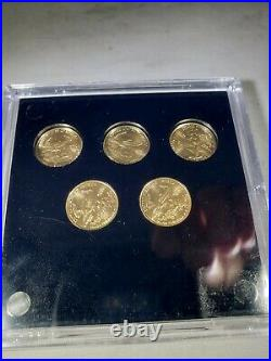 FIVE 1/10 Oz Fine Gold 2013 Liberty American Eagle Coin $5 Uncirculated
