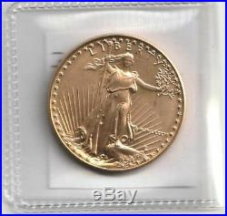 Free shipping 1986 Uncirculated 1 oz Gold American Eagle last from storage