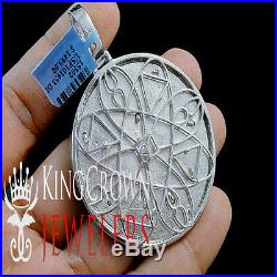 Genuine Diamond Medallion President Seal American Eagle Pendant 10K Gold Finish