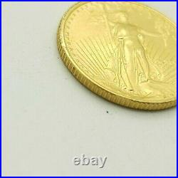 MCMLXXXIX 1989 American Eagle 1/10 Ounce $5 Dollar Liberty Round Gold Coin