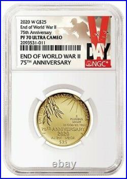 NGC PF70 Graded End of World War II 75th Anniversary 24-Karat Gold Coin