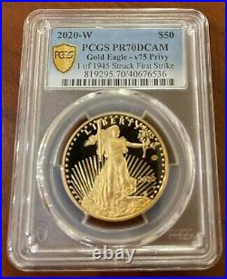 PCGS PR70 FS End of World War II 75th American Eagle Gold Proof Coin 70 DCAM $50