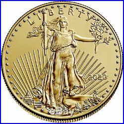 Pre Sale 2020 $25 American Gold Eagle 1/2 oz Brilliant Uncirculated