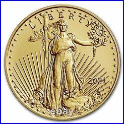 Pre-Sale 2021 1/10 oz American Gold Eagle MS-70 PCGS (FDI, Black, Type 2)