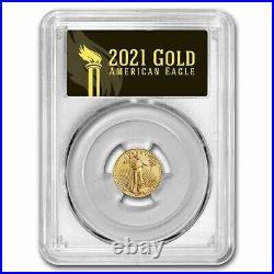 Pre-Sale 2021 1/10 oz American Gold Eagle MS-70 PCGS (FS, Black, Type 2)