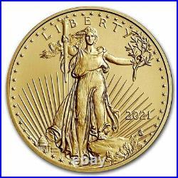 Pre-Sale 2021 1/4 oz American Gold Eagle MS-70 PCGS (FDI, Black, Type 2)